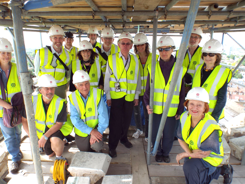 Visit by The Clapham Society to the Spire Repair Project at St Mary's Church, Clapham on Thursday 18th June 2015